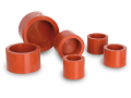 Flexible cylindrical cold mounting moulds