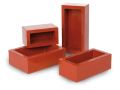 Flexible rectangular cold mounting moulds